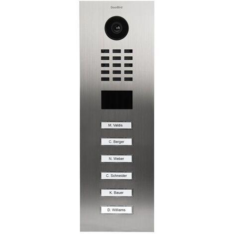 Portier vidéo IP avec lecteur de badge RFID - Doorbird D2106V Inox - Inox