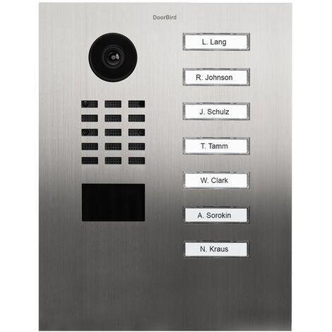 Portier vidéo IP avec lecteur de badge RFID - Doorbird D2107V Inox - Inox