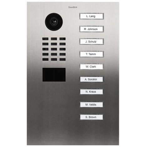 Portier vidéo IP avec lecteur de badge RFID - Doorbird D2109V Inox - Inox