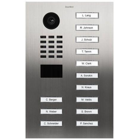 Portier vidéo IP avec lecteur de badge RFID - Doorbird D2113V Inox - Inox