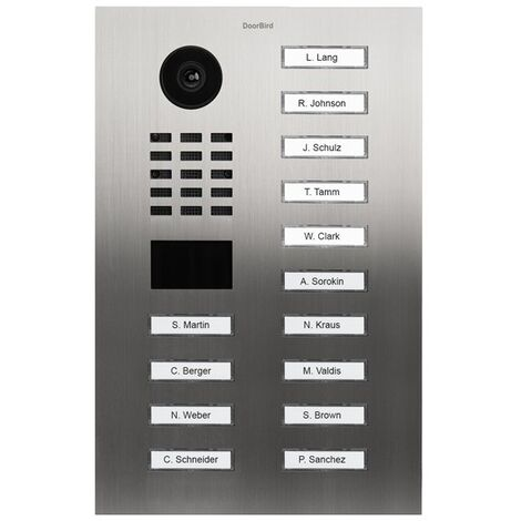 Portier vidéo IP avec lecteur de badge RFID - Doorbird D2114V Inox - Inox