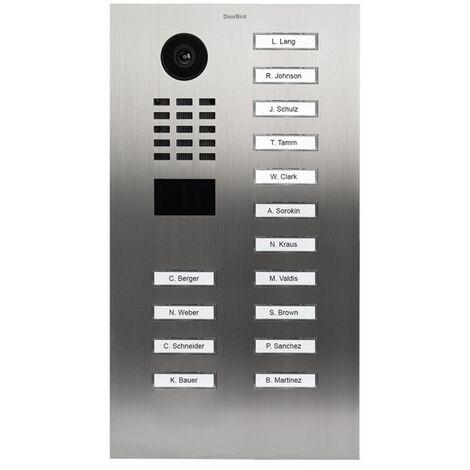 Portier vidéo IP avec lecteur de badge RFID - Doorbird D2115V Inox - Inox