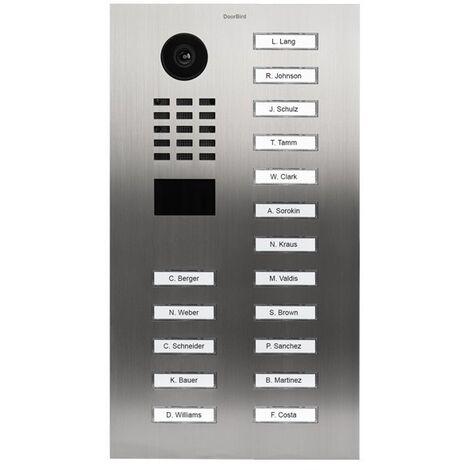 Portier vidéo IP avec lecteur de badge RFID - Doorbird D2117V Inox - Inox