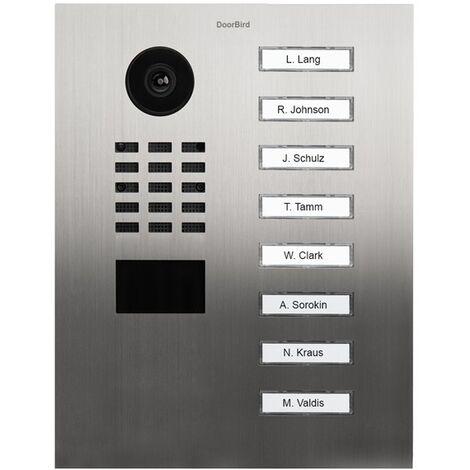 Portier vidéo IP avec lecteur de badge RFID - Doorbird D2118V Inox - Inox