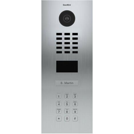Portier vidéo IP avec lecteur de badge RFID et clavier - D2101KV EAU SALEE Inox - Doorbird - Inox