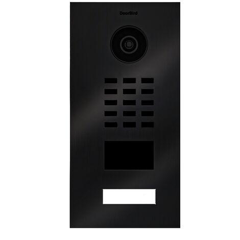 Portier vidéo IP lecteur de badge RFID + Boitier de montage apparent - D2101V TITANE BR KIT 2 Doorbird - Noir