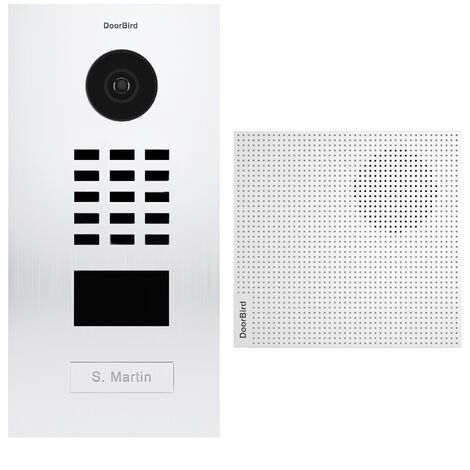 Portier vidéo IP lecteur de badge RFID + Carillon Blanc - D2101V RAL 9016 KIT 1 Doorbird - Blanc
