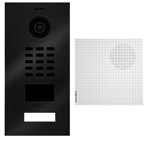 Portier vidéo IP lecteur de badge RFID + Carillon Blanc - D2101V TITANE BR KIT 1 Doorbird - Noir