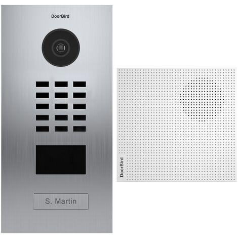 Portier vidéo IP lecteur de badge RFID + Carillon - D2101V EAU SALEE KIT 1 Doorbird - Inox