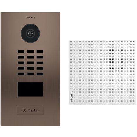 Portier vidéo IP lecteur de badge RFID + Carillon - Finition Bronze Doorbird - Bronze