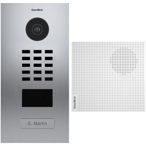 Portier vidéo IP lecteur de badge RFID + Carillon + Support de montage - Doorbird - Inox