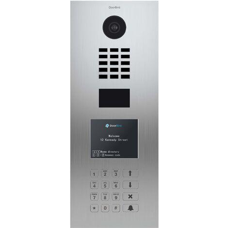 Portier vidéo IP Multi-locataires - Doorbird D21DKV Inox - Argent