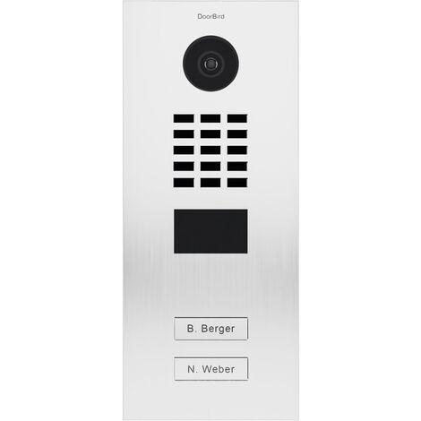 Portier vidéo IP multi-utilisateurs - 2 sonnettes - Doorbird D2102V RAL 9016 - Blanc