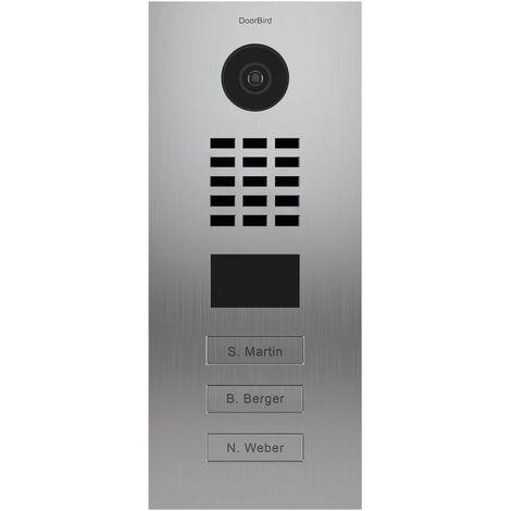 Portier vidéo IP multi-utilisateurs - 3 sonnettes - Doorbird D2103V Inox - Inox