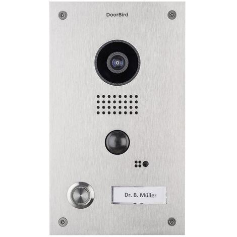 Portier vidéo IP wifi encastrable Doorbird D202 Inox - Inox
