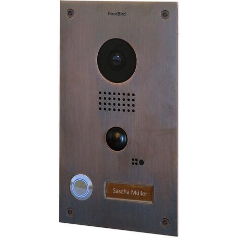 Portier vidéo IP wifi encastrable Doorbird D202B Bronze - Bronze