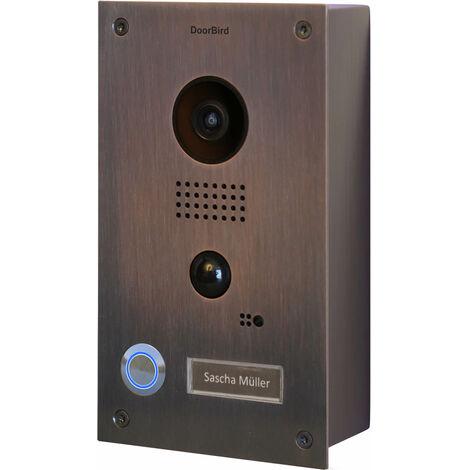 Portier vidéo IP wifi - Montage en saillie Doorbird D201B Bronze - Bronze