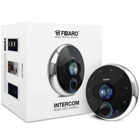 portier vid o wifi ethernet intercom fibaro fib fgic 001. Black Bedroom Furniture Sets. Home Design Ideas