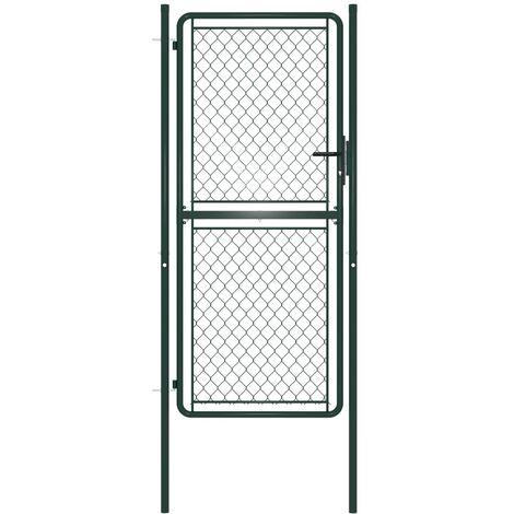 Portillon Acier 100 x 175 cm Vert