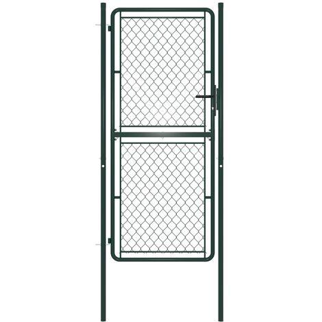 Portillon Acier 100 x 200 cm Vert