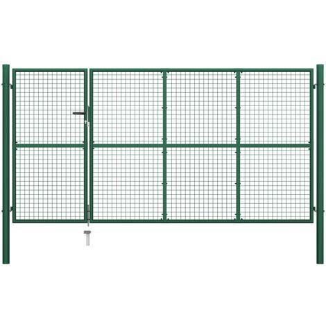 Portillon Acier 350x150 cm Vert