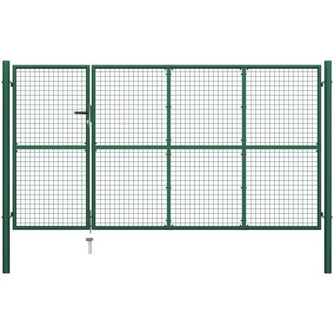 Portillon Acier 350x175 cm Vert