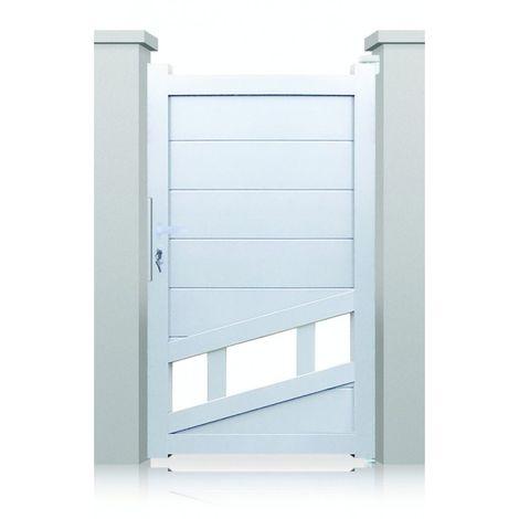Portillon aluminium Chicago - Hauteur : 1600 mm - Largeur entre piliers : 1040 mm - Plusieurs couleurs disponibles