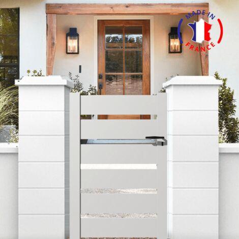 Portillon aluminium SAH en kit dimension L.1000 (entre piliers) x H.1500 mm couleurs Gris (RAL 7016)