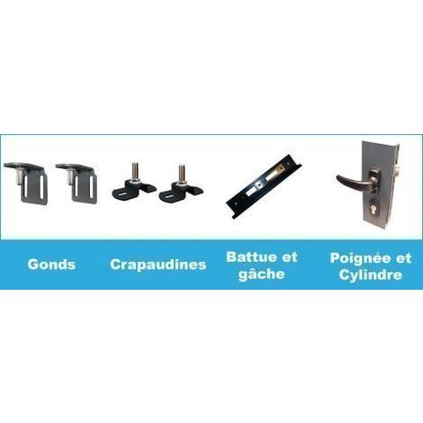 Portillon aluminium San Diego - Hauteur : 1800 mm - Largeur entre piliers : 1040 mm - Différentes couleurs disponibles