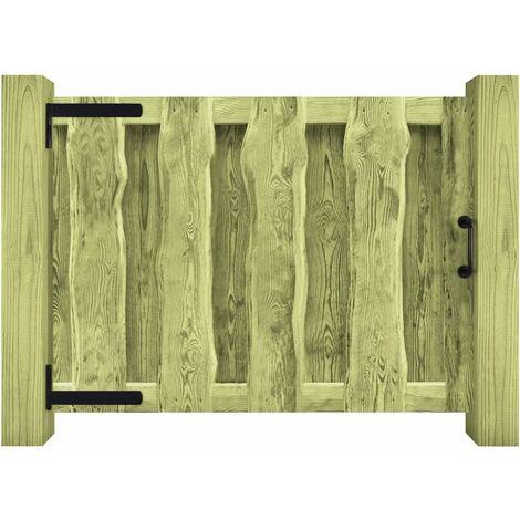 Portillon Bois de pin imprégné FSC 100 x 75 cm Vert