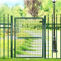 Portillon de jardin 150 x 106cm avec serrure maille métallique GGD200G
