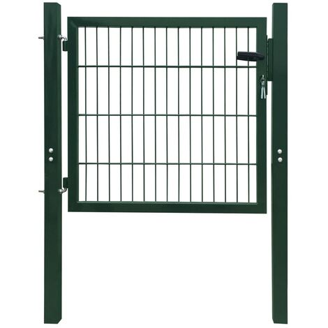 Portillon de jardin 2D (Single) Vert 106 x 210 cm