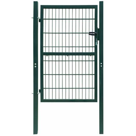 Portillon De Jardin 2D (Single), Vert 106 X 210 Cm