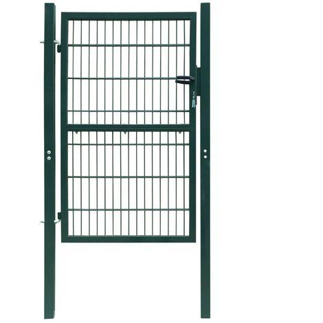Portillon de jardin 2D (Single) Vert 106 x 230 cm