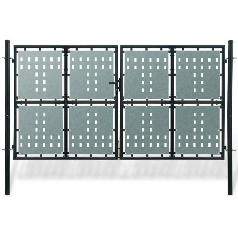 Youthup - Portillon de jardin Double Noir 300 x 200 cm