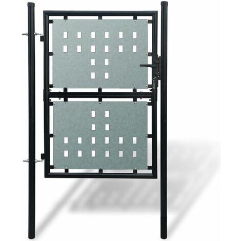 Portillon De Jardin Single, Noir, 100 X 175 Cm