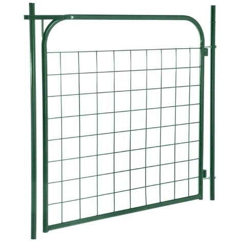 Portillon de jardin vert 100 x 100 cm Vert 149 cm