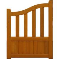 PORTILLON en bois exotique 'ajouré' largeur 1 m hauteur 1,10/1,30