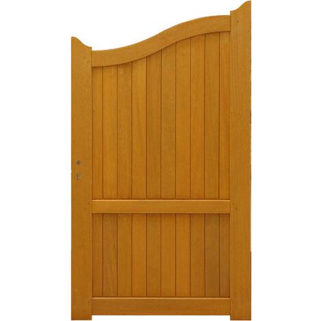 PORTILLON en bois exotique 'plein' largeur 1 m hauteur 1,60/1,80 ENVOYE DEPUIS LA France
