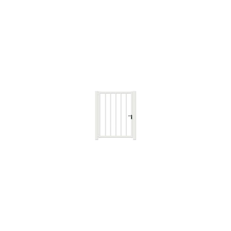 Portillon Jardin Barreaudé Blanc JARDIPLUS - 1,2 mètre - PORB0102