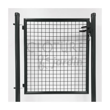 Portillon Jardin Grillagé Gris Anthracite JARDIMALIN - 1 mètre ...