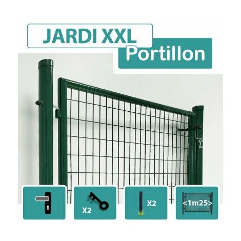 Portillon Jardin Grillagé Vert JARDI XXL - Passage 1m25 - 1.50 mètre