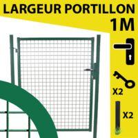 Portillon Jardin Grillagé Vert JARDIMALIN - 1,20 mètre