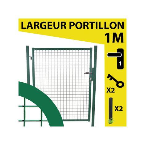 Portillon Jardin Grillagé Vert JARDIMALIN - 1.75 mètre