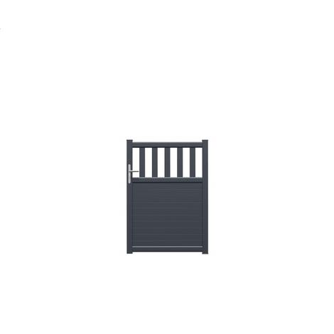 Portillon MANOA en Alu Gris anthracite 7016, Largeur:100, Hauteur:140