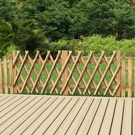 Portillons de jardin 2 pcs Bois de pin imprégné 300x80 cm