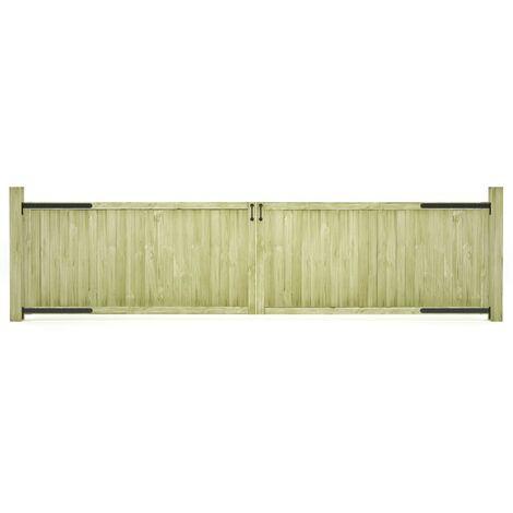 Portillons de jardin 2 pcs Bois de pin imprégné 400x100 cm