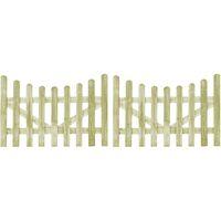 Portillons de jardin 2 pcs Pin imprégné FSC 150 x 100 cm