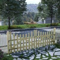 Portillons de jardin 2 pcs Pin imprégné FSC 150 x 120 cm