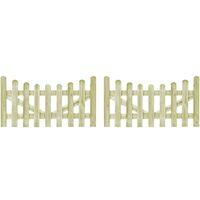 Portillons de jardin 2 pcs Pin imprégné FSC 150 x 80 cm